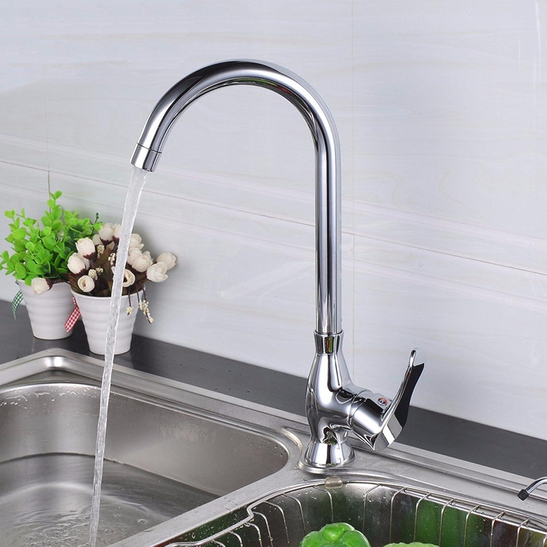 LaLF Waschtischarmatur Küchenarmatur, Messing Küchenarmatur Küchenarmatur, Einhand-Einlochmontage mit heiem und kaltem Teller Wasserhahn