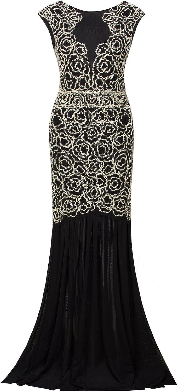 VIJIV 1920s Long Prom Dresses V Gatsby Manufacturer regenerated product Beaded Neck E shipfree Sequin Maxi