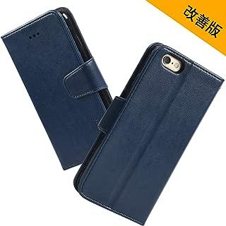 iPhone 6s ケース 手帳型 iPhone 6 ケース スマホケース iPhone 6/6s ストラップ付き スタンド機能 カードポケット付き Arae アイフォン6/6s 対応用 財布型 ケース カバー(ダークブルー)