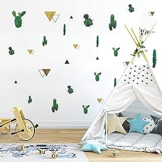 Runtoo Pegatinas de Pared Cactus Stickers Adhesivos Vinilo Plantas Verdes Decorativas Salon Habitacion Bebe