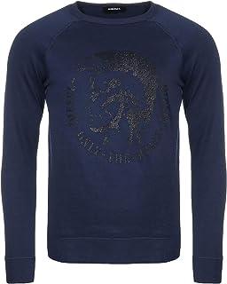 Diesel S-Orestes Navy Logo Sweatshirt