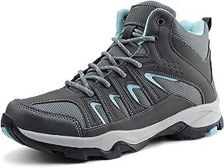 Womens Mid Hiking Boots Lightweight Waterproof Outdoor Trekking Shoes