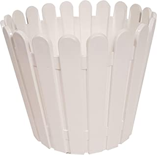 Wonderland (White, Single pc) Fence Fresh Plastic Garden Pot, Planter, Planters, Pots, Home Decor, Garden Decor
