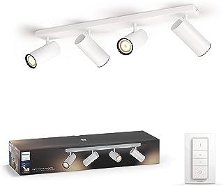 Philips Hue Buratto Opbouwspot 4-Lichts - Duurzame LED Verlichting - Warm tot Koelwit Licht - Dimbaar - Verbind met Hue Br...