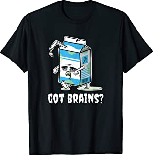 Got Brains? Scary Zombie Milk Carton, Milkshake Monster Meme T-Shirt