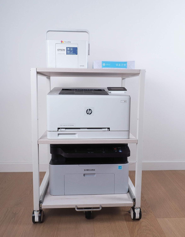 Model 1 para un m/áximo de Tres m/áquinas NEUN WELTEN Soporte de Impresora con Estante Deslizante Ajustable 50 x 50 x 72 cm L x A x A