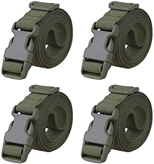 """Magarrow 78"""" x 1"""" Nylon Strap Buckle Packing Straps Travel Accessories 1-Inch Belt (Green (4-PCS))"""