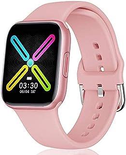 WHXJ Reloj Inteligente Mujer,Smartwatch Hombre,Impermeable IP68,Pulsera Actividad Inteligente Medidor Presion Arterial Monitor Sueño Contador Caloría Pulsómetros Podómetro para Android iOS Rosa