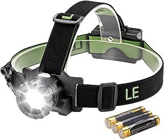Rantoloys LED port/átil Linterna Frontal Linterna Luz de Trabajo Iluminaci/ón Blanca y roja Ultra Brillante L/ámpara con antorcha con 4 Modos de iluminaci/ón para Acampar al Aire Libre