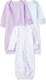 Amazon Essentials Baby Girls 3-Pack Sleeper Gown