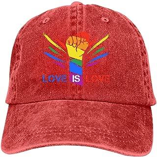 Love is Love Baseball Cap Unisex Washed Cotton Denim Hat Adjustable Caps Cowboy Hats