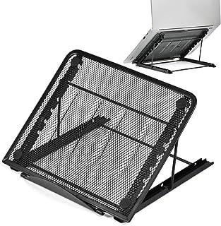 YOTINO Soporte para portátil Multi-ángulo Ajustable Plegable, portátil, ventilado, Universal, Ligero y Ajustable, Soporte ergonómico, Adecuado para Tableta, computadora pequeña - Negro
