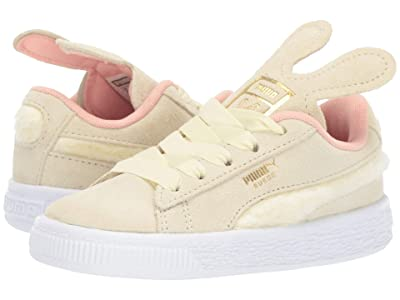 Puma Kids Suede Bunny Slip-On (Toddler) (Tender Yellow/Coral Cloud/Puma Team Gold) Girls Shoes