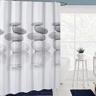 Rideaux de bain avec crochets en polyester - Imperméables à séchage rapide - Résistants à la moisissure et à la moisissure
