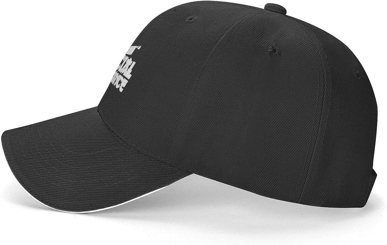 Social Distance Bruce Lee Classic Sandwich Cap Adjustable Truck Baseball Cap for Adults Black