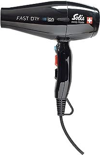 ソリスプロフェッショナル仕様ドライヤー、最大風速で速乾性抜群、3段階の温度風力変換、イオンテクノロジー、ファーストドライ (SD381B)、黒