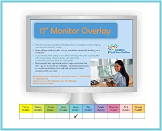 Crossbow Education 17-Inch Monitor Overlay - Aqua