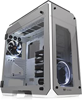 Thermaltake View 71 TG Snow Big-Tower - Funda con Lados de Vidrio Templado 5 mm y Dos Ventiladores