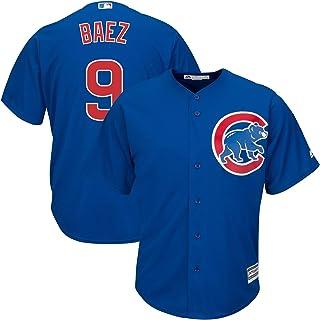 Outerstuff Javier Baez Chicago Cubs MLB Majestic Kids 4-7 Blue Alternate Cool Base Player Jersey