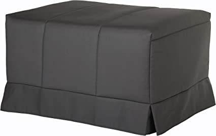 Quality Mobles - Cama Plegable Individual de 80x190 cm Funda Color Gris