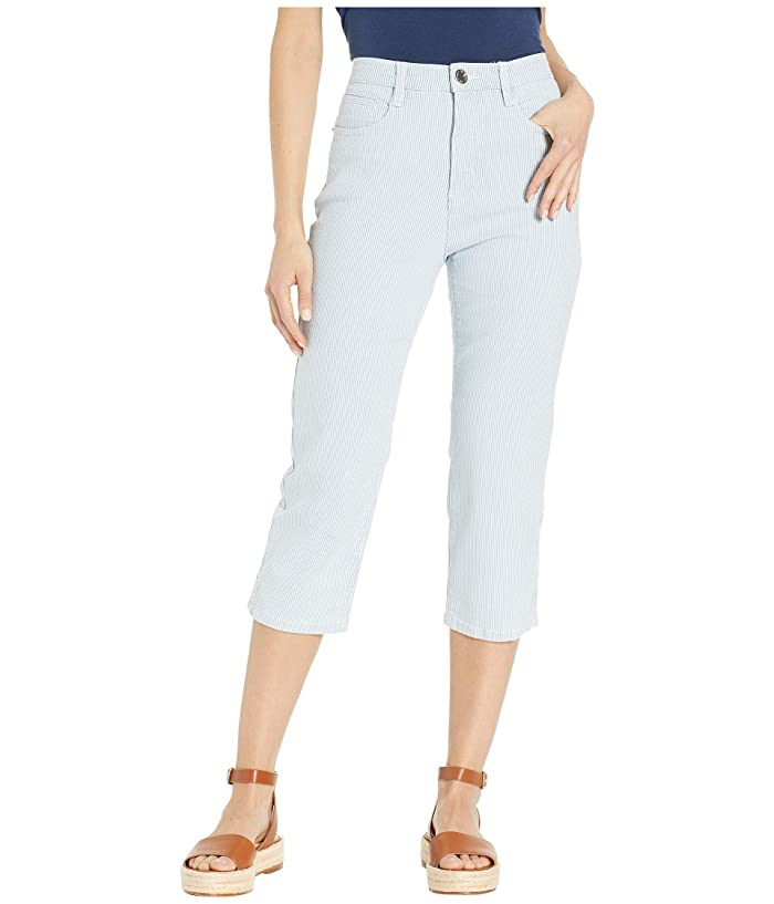 FDJ French Dressing Jeans Stripe Denim Suzanne Capris in Chambray (Chambray) Women