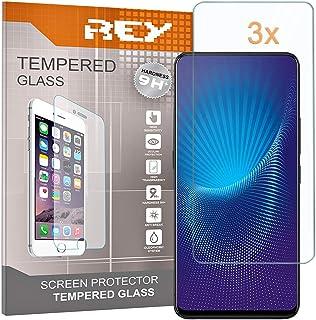 REY skärmskydd för VIVO NEX - NEX S - NEX A, härdat glasfilm, premiumkvalitet, [paket 3x]