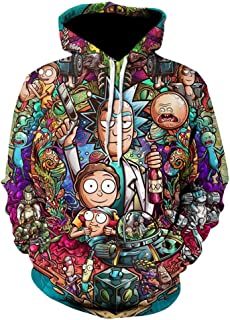 Rick and Morty 3D Print Mens Hoodies and Sweatshirts Funny Ricky Y Morty Hip Hop Hooded Jacket Men Tracksuit Anime Clothing