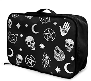 Travel Luggage Duffle Bag Lightweight Portable Handbag Night Moon Print Large Capacity Waterproof Foldable Storage Tote