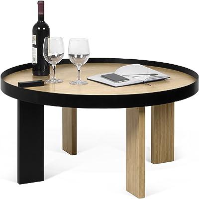 Bruno Table, Chêne, Multicolore, 80 x 80 x 42 cm