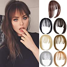 Hebelin Clip in Bangs Hair Pieces Natural Hair Clip in Fringe Straight Thin Bangs with Temples for Women