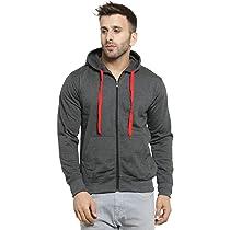 Scott International Mens Cotton Blend Pullover Hoodie Sweatshirt – Coffee Brown