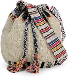 Handloom Fabric Crossbody Shoulder Bucket Bag HTB 09