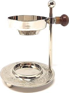 Justerbar rökelsebrännare — silver nickel rökelsebrännare justerbar höjd för rökning rökelse eller harts med ytterligare i...