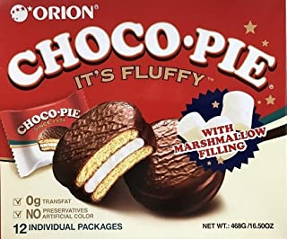 Orion Choco Pie with Marshmallow Cream LARGE, 24 Count (12 x 2 Packs)