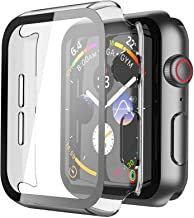 Misxi Hard PC Case with Black Border Tempered Glass Screen Protector for Apple Watch Series 6 SE Series 5 Series 4 40mm - ...