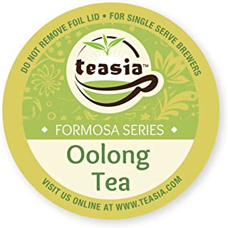 Teasia Oolong Tea Pods (36-count), Formosa Series, All Natural GMO-free Hot & Iced Tea Capsules Compatible with Keurig Single Serve Brewers