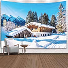 Crannel Wall Tapestry, Farmhouse Near Munich Germany Tapestry 80X60 Inches Wall Thanksgiving Fall Tapestries Christmas Hanging for Dorm Room Living Home Decorative