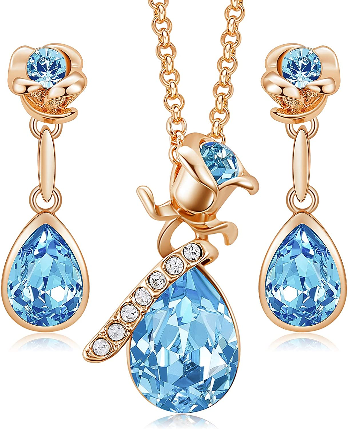 CDE Jewelry Sets for Women Rose with Ranking TOP15 Gold Cr High quality new Embellished
