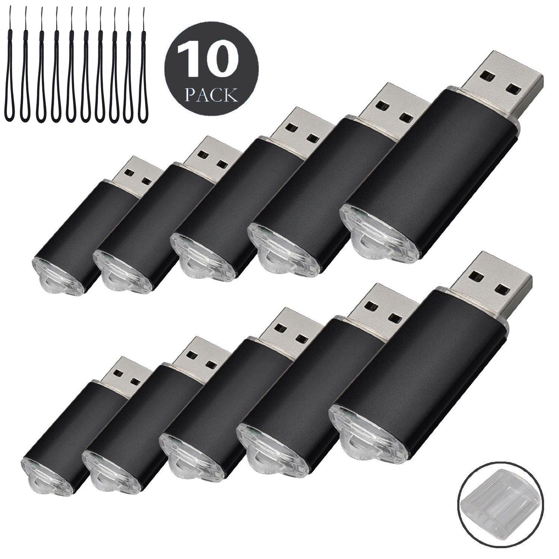 10pcs 1 G USB flash drive usb 2.0 Memory Stick Pen Drive de disco de memoria (1.0 GB): Amazon.es: Informática