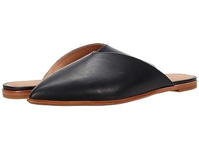 Madewell Keely Pointy Toe Mule (True Black Leather) Women