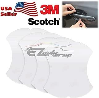 EZAUTOWRAP 4PCs 3M Scotchguard Clear Door Cup Handle Paint Scratch Protection Guard Film Bra Vinyl Style 2