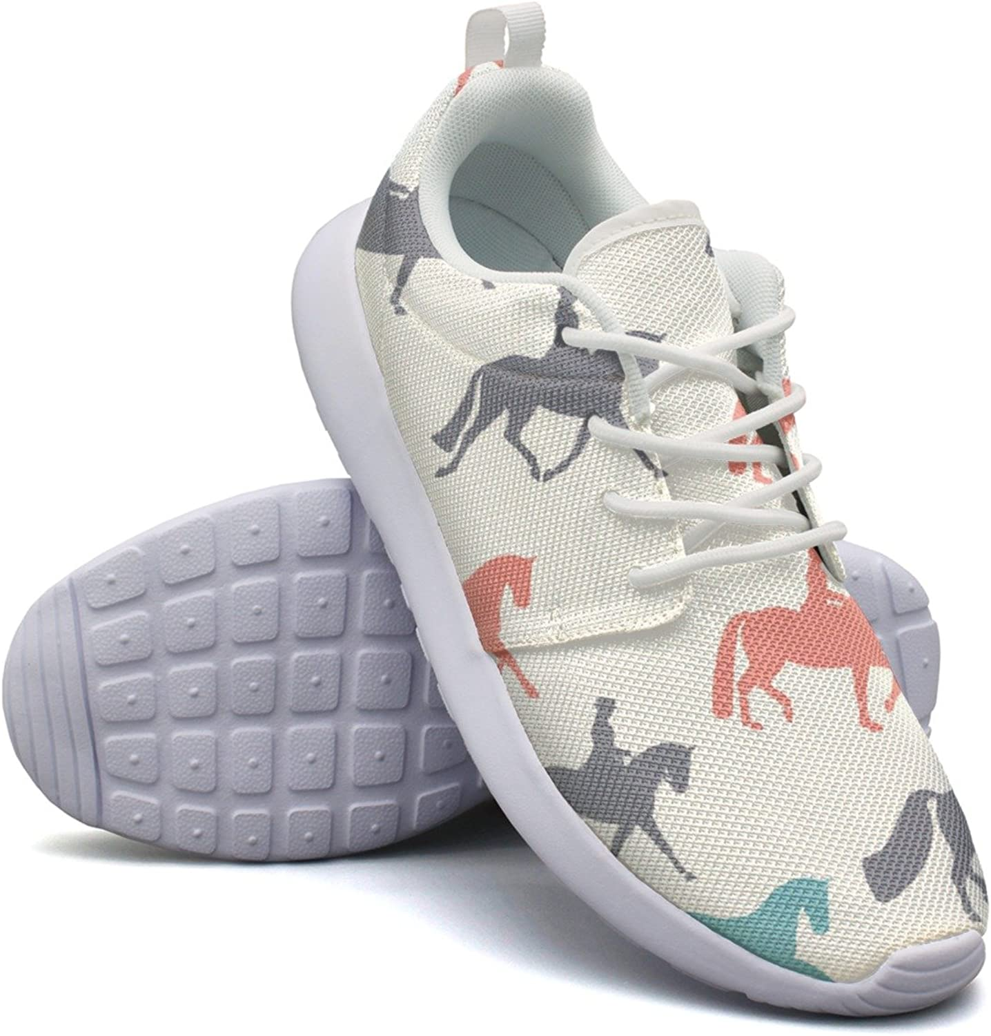 Horse Pattern Simple Style Woman Printing Casual Running shoes Funny colorful