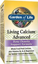 Garden of Life Bone Strength Calcium Supplement - Living Calcium Advanced Bone Health and Density Support, Vegetarian, 120 Caplets Packaging May Vary