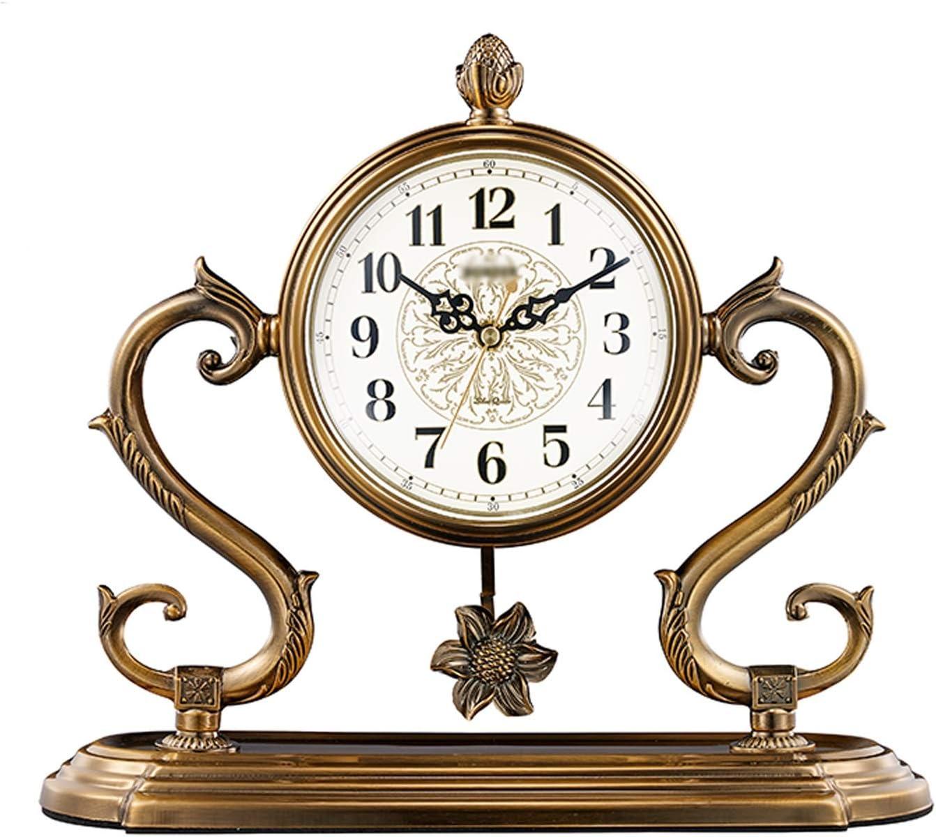 SHUTING2020 Desk Clock Time sale Household Cloc Metal Desktop Single-Sided Popular brand in the world