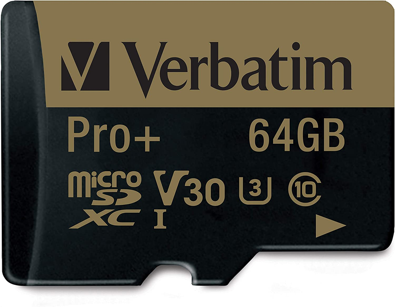 Verbatim Pro U3 Micro Sdxc Speicherkarte 64 Gb Mit Computer Zubehör