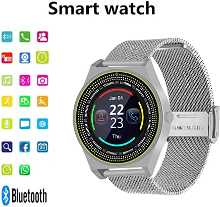 Bluetooth Smart Watch, Fitness Tracker, Touch Screen Camera Heart Rate and Activity Tracking,