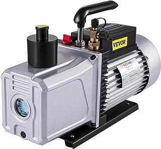 VEVOR Vacuum Pump 12 CFM 1 HP Single Stage Air Conditioning Vacuum Pump 110V 5PA Ultimate Vacuum Refrigerant HVAC Air Tool...