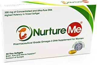 Nurture Me - Concentrated Omega 3 DHA Fish Oil Supplement formulated with Ultra Pure DHA for All Women 18 to 55+ Years (30...