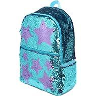Sequin School Backpack for Girls Kids Cute Elementary Book Bag Bookbag Teen Glitter Sparkly Back...