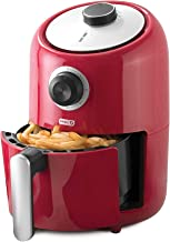 Dash DCAF150GBRD02 Compact Air Fryer Oven Cooker with Temperature Control, Non Stick Fry Basket, Recipe Guide + Auto Shut ...